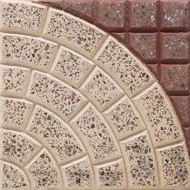 Baldosa para exteriores grano terrazo 30x30 cm pulida