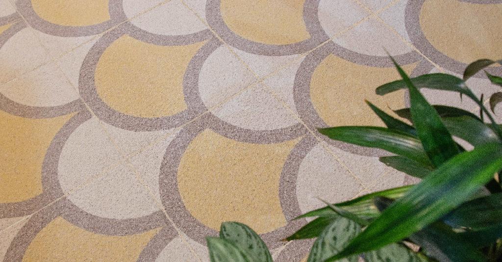 Mosaico de grano terrazo cepillado (Brush) 30x30 cm