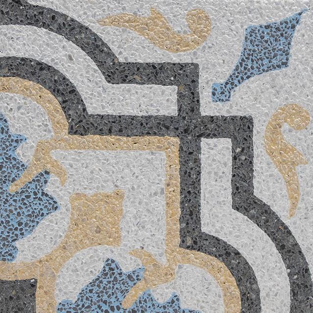 Mosaico de grano terrazo cepillado (Brush)